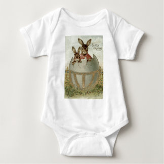 Easter Bunny Colored Egg Farm Infant Creeper
