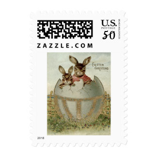 Easter Bunny Colored Egg Farm Postage