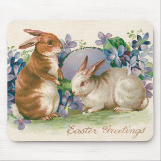 Easter Bunny Colored Egg Forget-Me-Not Mouse Pad