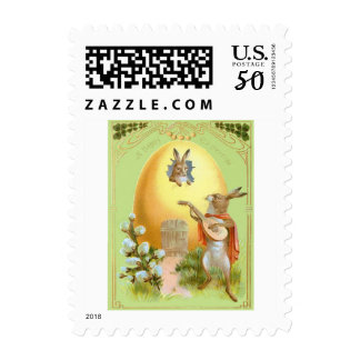 Easter Bunny Colored Egg House Postage