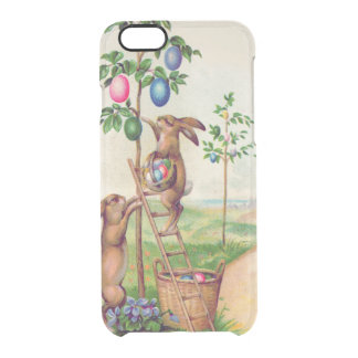Easter Bunny Colored Egg Tree Clear iPhone 6/6S Case