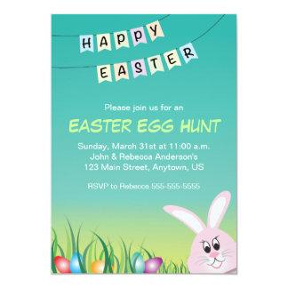 Easter Bunny & Colored Eggs, Easter Egg Hunt Card
