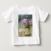 Easter Bunny Colored Painted Egg Crocus Baby T-Shirt