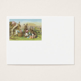 Easter Bunny Colored Painted Egg Field Business Card