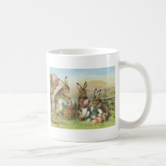 Easter Bunny Colored Painted Egg Field Coffee Mug