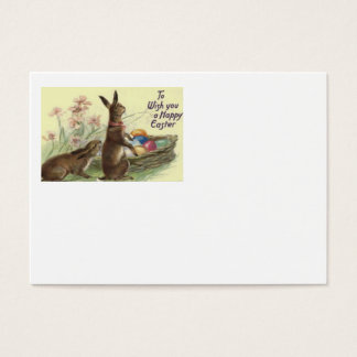 Easter Bunny Colored Painted Egg Flower Business Card