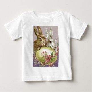 Easter Bunny Colored Painted Egg Pink Flower Infant T-shirt