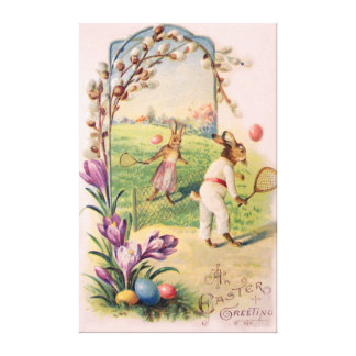 Easter Bunny Colored Painted Egg Tennis Canvas Print