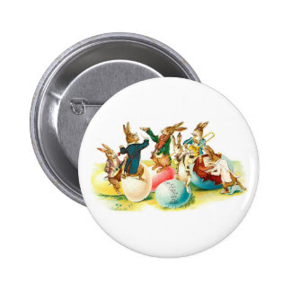 Easter Bunny Concert Vintage 2 Inch Round Button
