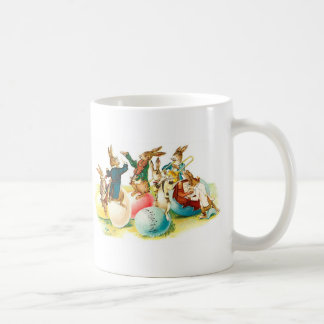 Easter Bunny Concert Vintage Classic White Coffee Mug