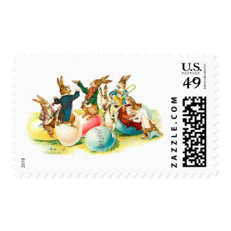 Easter Bunny Concert Vintage Stamps