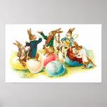 Easter Bunny Concert Vintage Poster