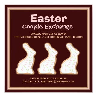 Easter Bunny Cookie Swap Party Invitation