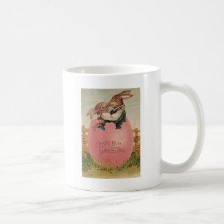 Easter Bunny Couple Kissing Painted Colored Egg Coffee Mug