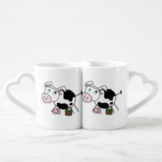 Easter Bunny Cow Coffee Mug Set