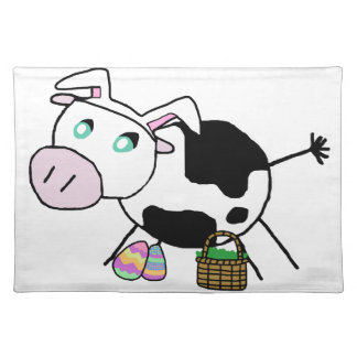 Easter Bunny Cow Placemats