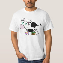 Easter Bunny Cow T-Shirt