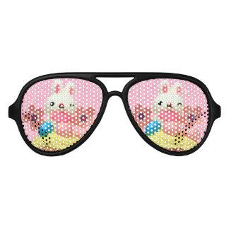 Easter Bunny cupcake Aviator Sunglasses