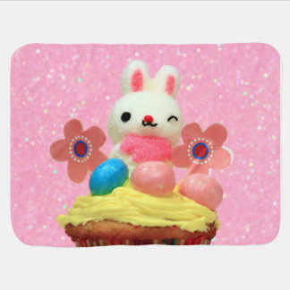 Easter bunny cupcake baby blanket