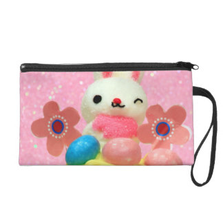 Easter Bunny cupcake Wristlet Clutch