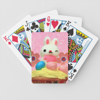 Easter Bunny cupcake Bicycle Playing Cards