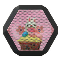Easter Bunny cupcake Black Bluetooth Speaker