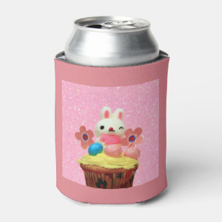 Easter Bunny cupcake Can Cooler