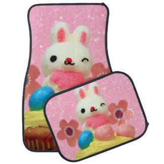 Easter Bunny cupcake Car Mat