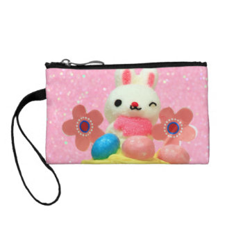 Easter Bunny cupcake Change Purse