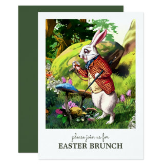 Easter Bunny Custom Easter Brunch Invitations