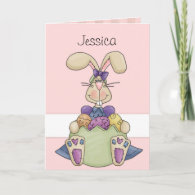 Easter Bunny Custom Holiday Card