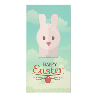 Easter Bunny Cute Animal Nursery Art Illustration Card