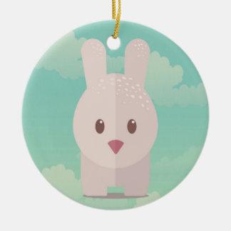 Easter Bunny Cute Animal Nursery Art Illustration Ceramic Ornament
