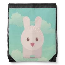 Easter Bunny Cute Animal Nursery Art Illustration Drawstring Bag