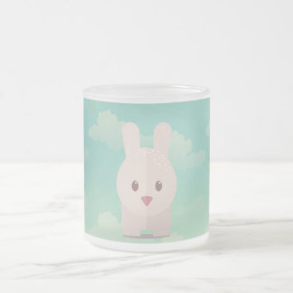 Easter Bunny Cute Animal Nursery Art Illustration Frosted Glass Coffee Mug