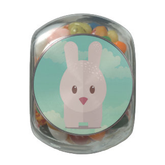 Easter Bunny Cute Animal Nursery Art Illustration Glass Jar