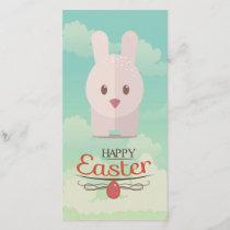 Easter Bunny Cute Animal Nursery Art Illustration Holiday Card