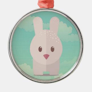 Easter Bunny Cute Animal Nursery Art Illustration Metal Ornament
