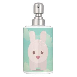 Easter Bunny Cute Animal Nursery Art Illustration Soap Dispenser And Toothbrush Holder