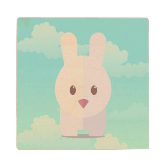 Easter Bunny Cute Animal Nursery Art Illustration Wood Coaster