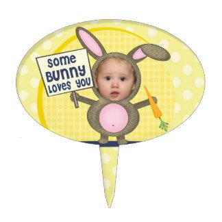 Easter Bunny Cute Custom Photo Cake Pick