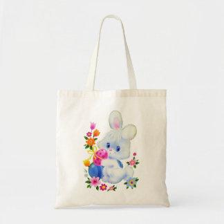 Easter Bunny cute egg tote bag
