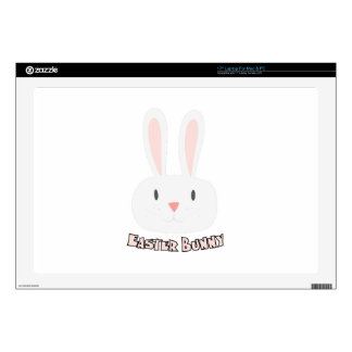 """Easter Bunny Decals For 17"""" Laptops"""