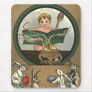 Easter Bunny Decorated Painted Colored Egg Baby Mouse Pads