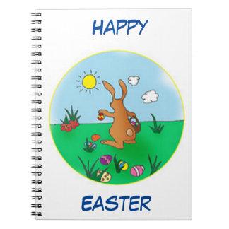 Easter Bunny Delivering Eggs Notebook