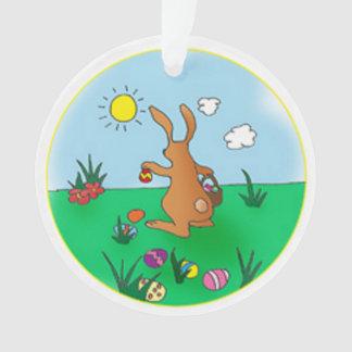 Easter Bunny Delivering Eggs Ornament