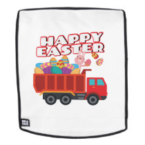 Easter Bunny Delivering Truck Easter Eggs For Boys Backpack