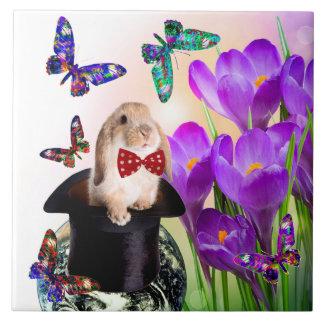 Easter Bunny design decorative tile