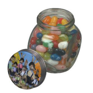 Easter Bunny Display Glass Jar
