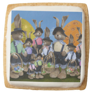 Easter Bunny Display Square Shortbread Cookie